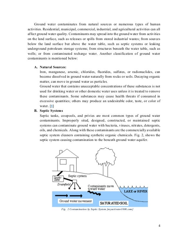 Groundwater pollution essay
