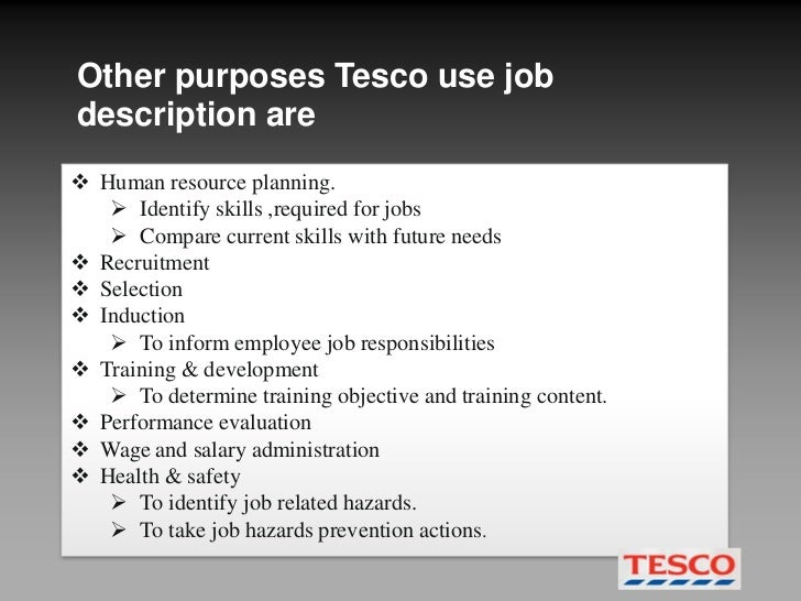 Recruitment and selection process in tesco