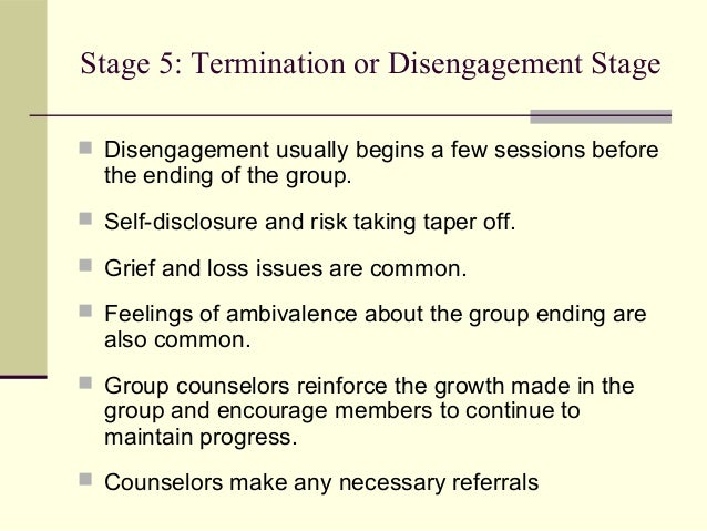 the working stage in group therapy L ike individual therapy, group therapy is a process characterized by distinct phases and corresponding therapeutic tasks therapists who understand these phases and their underlying dynamics have an advantage in supporting their groups through the challenging and sometimes perplexing nature of group work.