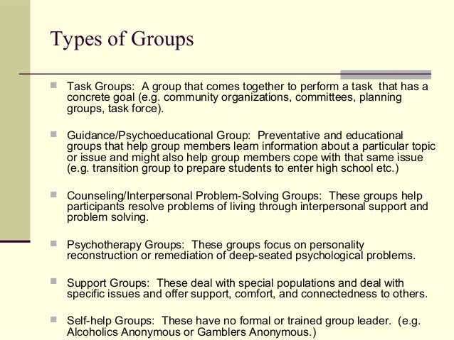 Psychotherapy and group