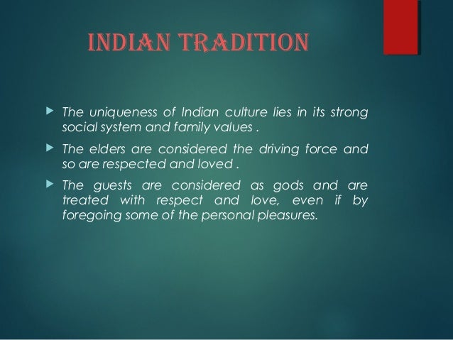 Indian Culture And Values