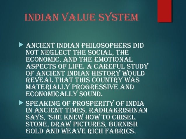 Indian values and ethics ppt