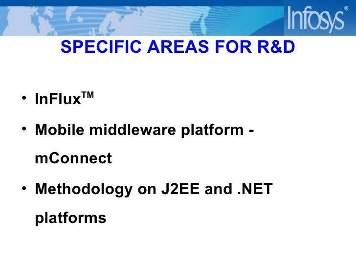 SPECIFIC AREAS FOR R&D <ul><li>InFlux TM </li></ul><ul><li>Mobile middleware platform - mConnect </li></ul><ul><li>Methodo...
