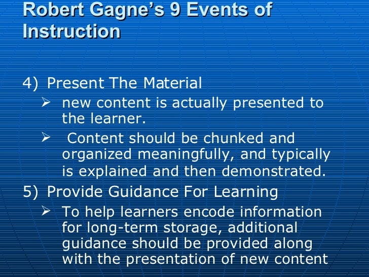 gagnes cognitive learning theory