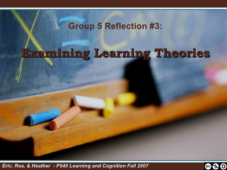 Group 5 Reflection #3: Examining Learning Theories Eric, Rea, & Heather  - P540 Learning and Cognition Fall 2007