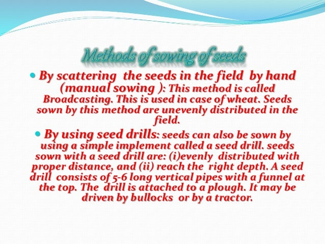 In a field many other undesirable plants may grow naturally along with the crop. These undesirable plants are called weeds...
