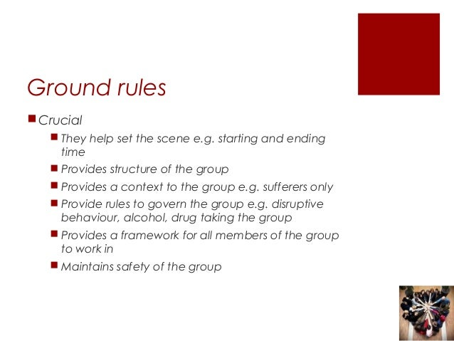 the rules dating support group