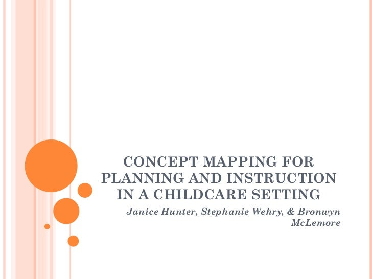 CONCEPT MAPPING FOR PLANNING AND INSTRUCTION IN A CHILDCARE SETTING Janice Hunter, Stephanie Wehry, & Bronwyn McLemore