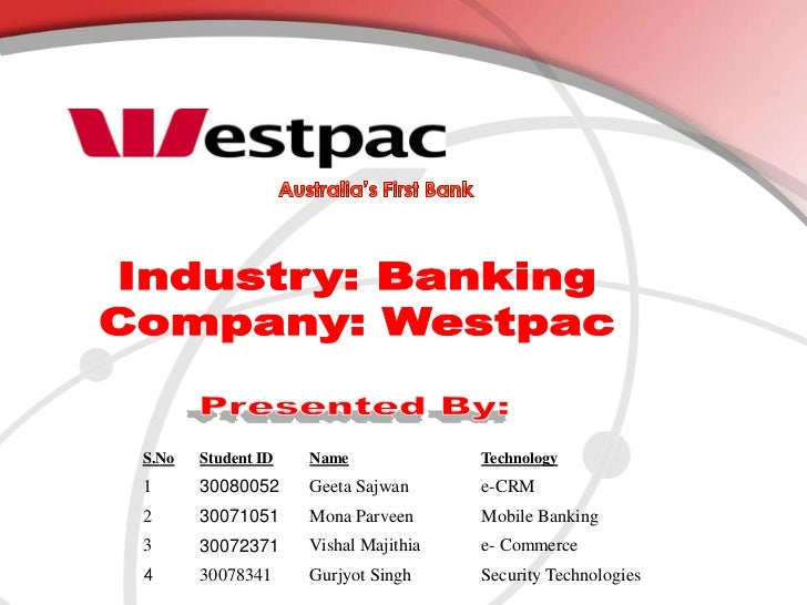 Australia's First Bank<br />Industry: Banking<br />Company: Westpac<br />Presented By:<br />
