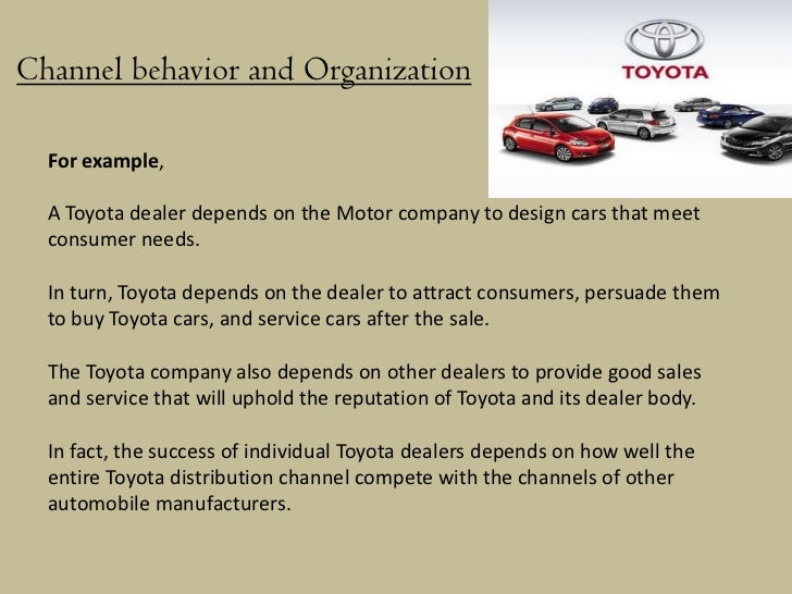 distribution channel strategy of toyota