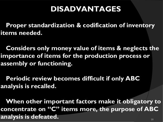 disadvantages of codification