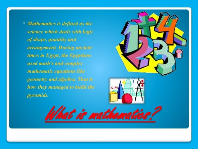 Essay on relation and use of maths in science