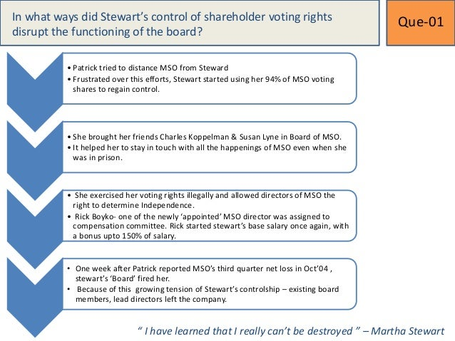 martha stewart case summary