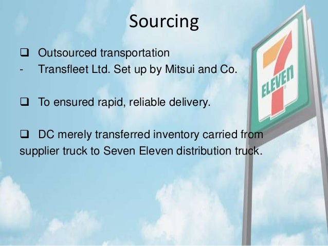 seven eleven japan co supply chain Answer to seven-eleven japan co 1 a convenience store chain attempts to be responsive and provide customers with what they.