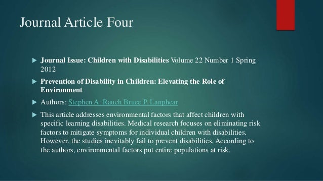 introduction to learning disabilities pdf