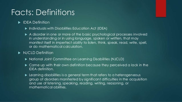 Introduction to Special Education: Group One- Specific