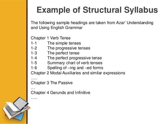 Structural Syllabus Funtional Syllabus