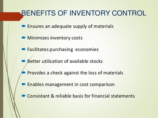 Inventory Control And Depreciation