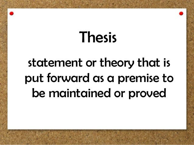 premise and thesis Define thesis premise we are most trusted custom-writing services among students from all over the world since we were founded in 1997.