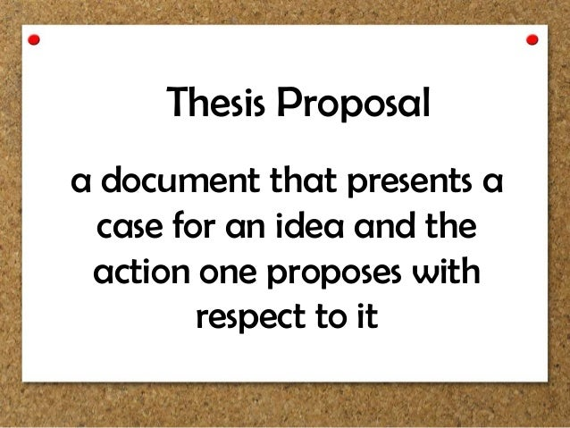 proposals for thesis