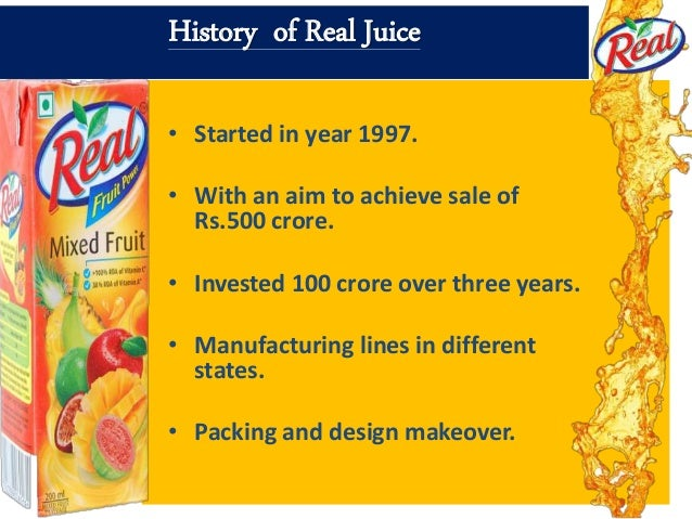 real fruit juice marketing strategies by universal business