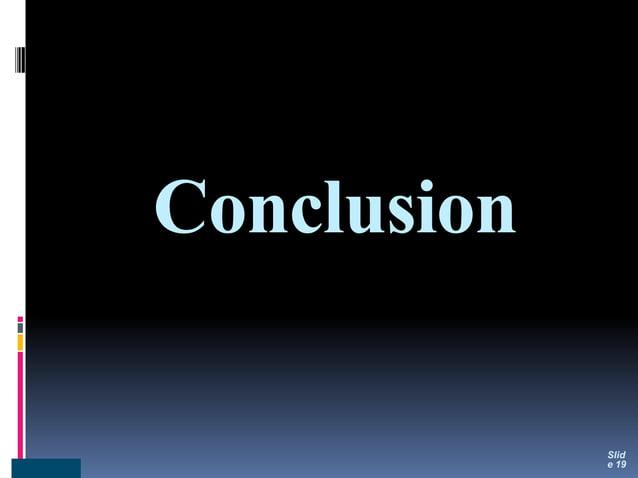 Conclusion Slid e 19