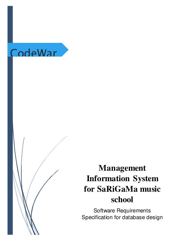Software Requirements specification for database design of music scho…