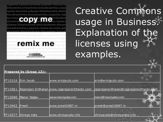 Creative Commons                                             usage in Business.                                           ...