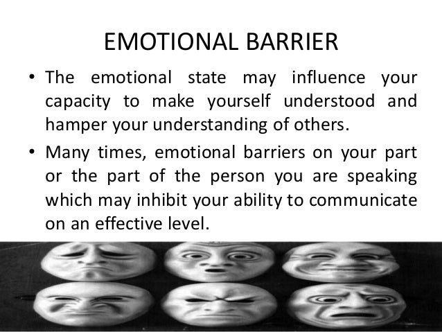 emotional factors that can support or inhibit communication Barriers to effective communication  and other physiological factors, can inhibit communication because the  one emotional area to concentrate on is.