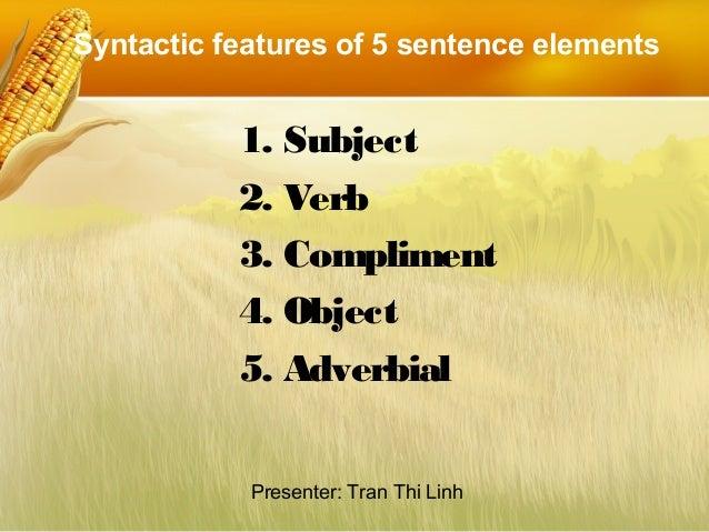The Simple Sentence  Slide 3