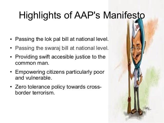 Aap Manifesto 2014 Pdf
