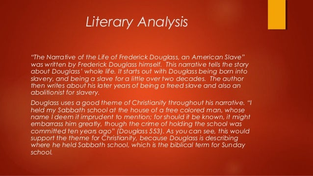 literary devices in frederick douglass