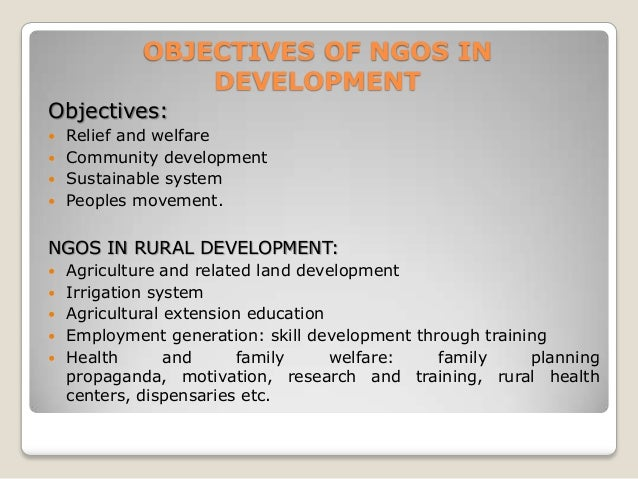 role of ngos in rural developement The role of ngos in fostering development and good governance at the local level in africa with a focus on kenya.