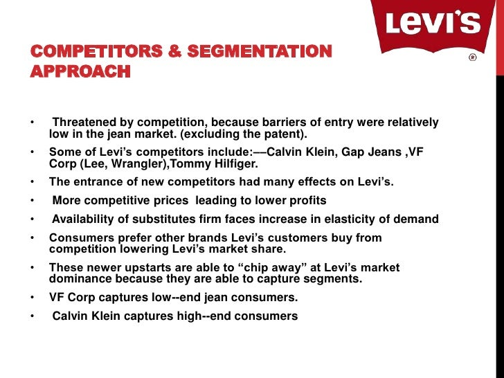 marketing plan of levis James curleigh shares his experience shepherding a brand beyond its original  incarnation, helping levi's claim not just market but closet share this talk was.