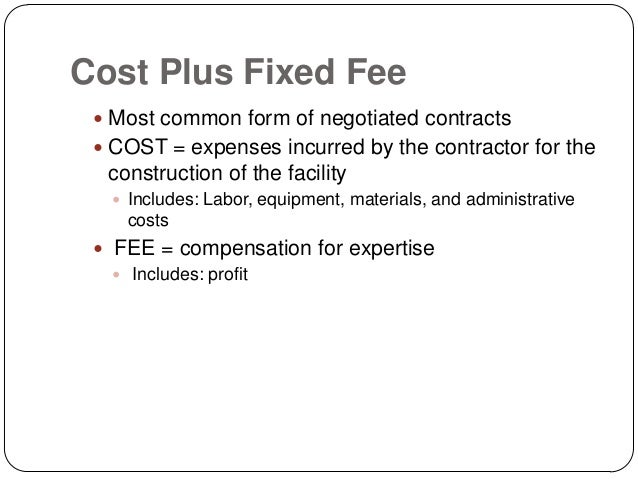 CONTRACTS AND ITS TYPES - Fixed price construction contract template