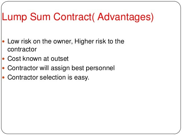 CONTRACTS AND ITS TYPES - Lump sum contract template