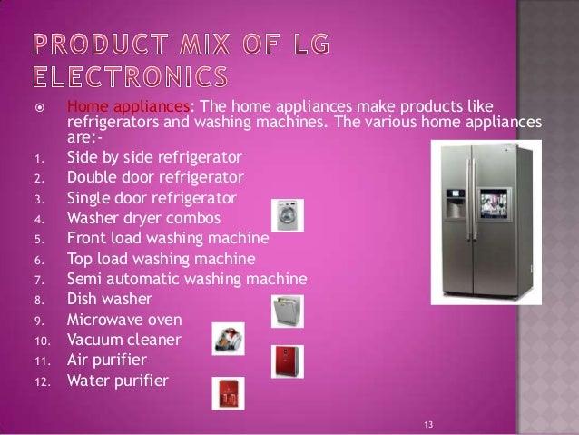 Product Mix Of Lg Electronics