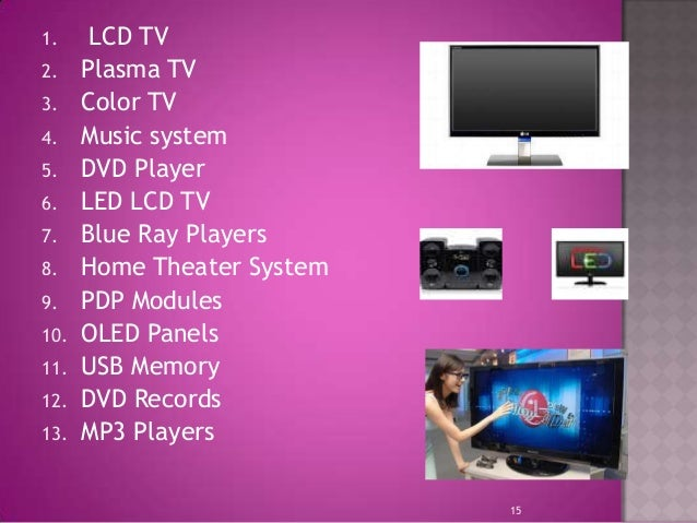 Product Mix Of Lg Electronics