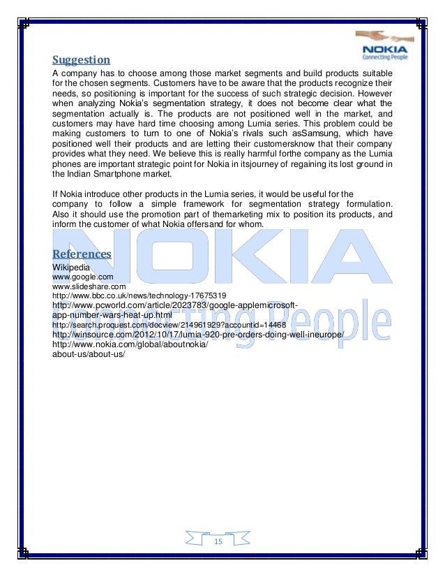 an analysis of marketing mix of nokia Also read - swot analysis of all brands | marketing mix of nokia home swot articles swot analysis of nokia - nokia swot analysis related posts most useful links 1 30 marketing and strategy models 2 marketing strategy 3 marketing tools 4.