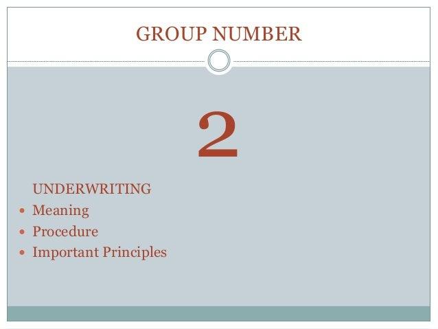 Underwriting Capacity