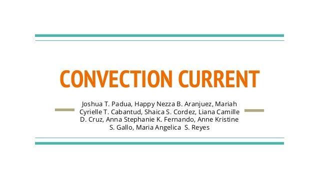 CONVECTION CURRENT Joshua T. Padua, Happy Nezza B. Aranjuez, Mariah Cyrielle T. Cabantud, Shaica S. Cordez, Liana Camille ...