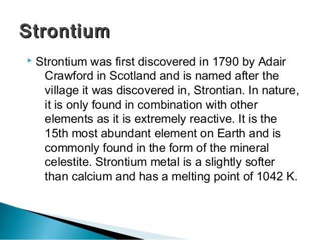 Group 2 the periodic table strontiumstrontium 11 urtaz