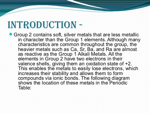 Group 2 The Periodic Table