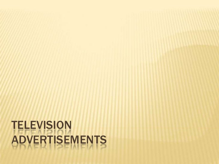 TELEVISIONADVERTISEMENTS
