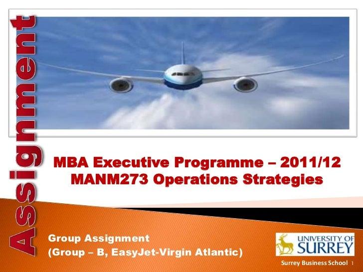 Operations Strategies of EasyJet vs Virgin Atlantic