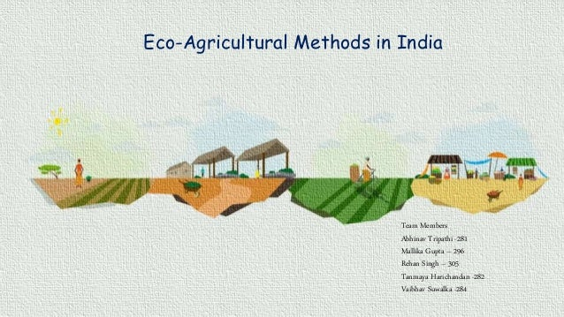 Eco-Agricultural Methods in India Team Members Abhinav Tripathi -281 Mallika Gupta – 296 Rehan Singh – 305 Tanmaya Haricha...