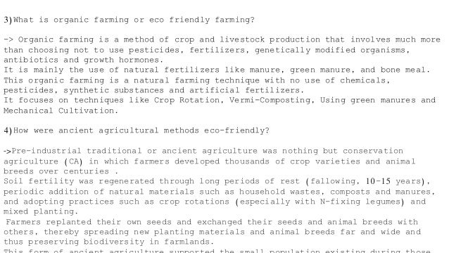 Eco Agricultural Methods in India