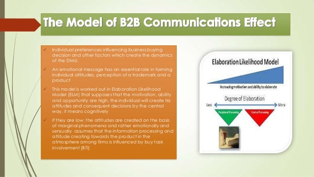New approaches to the business-to-business marketing communication essay
