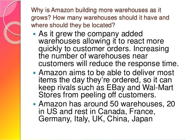 a case study of amazon on its supply chain management essay Case #2: the supply chain management of samsung electronics  2009  shared value: managing climate change in the supply chain report written for   iit delhi and ex- amazon • year-2007 • investment-4 lacs • headquarters-  bangalore.