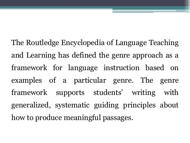 Chinese EFL Teachers' Cognition about the Effectiveness of Genre Pedagogy: A Case Study